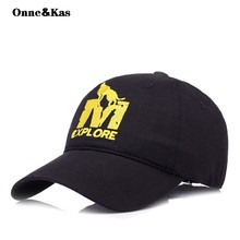 9a25ed2008c Cotton Embroidery Letter M Wolf Baseball Cap Snapback Caps Bone casquette  Hat Distressed Wearing Fitted Hat