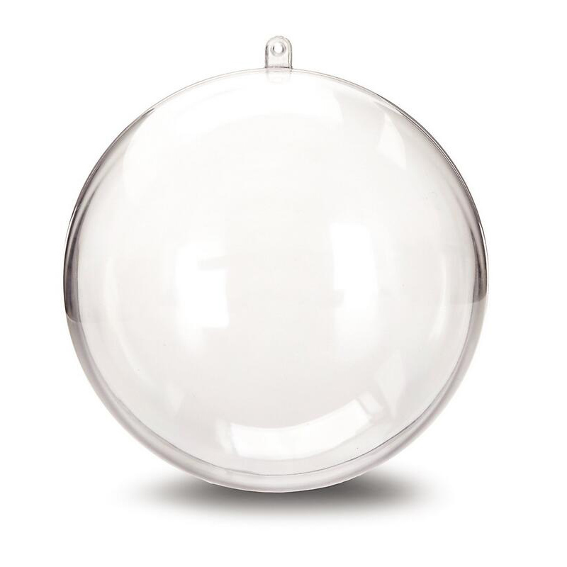 Clear Christmas Baubles 15 Packs 3 size DIY Plastic Fillable Ornaments Decorations Tree Balls Baubles Craft Transparent Ball Gifts for Wedding Party Decor 6//8//10 CM