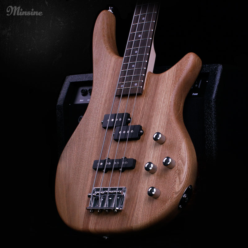 Chinese variety Electric Bass Guitar 4 String Rosewood Elm Passive closed pickup High quality roland gk 3 divided pickup for bass guitar electric guitar