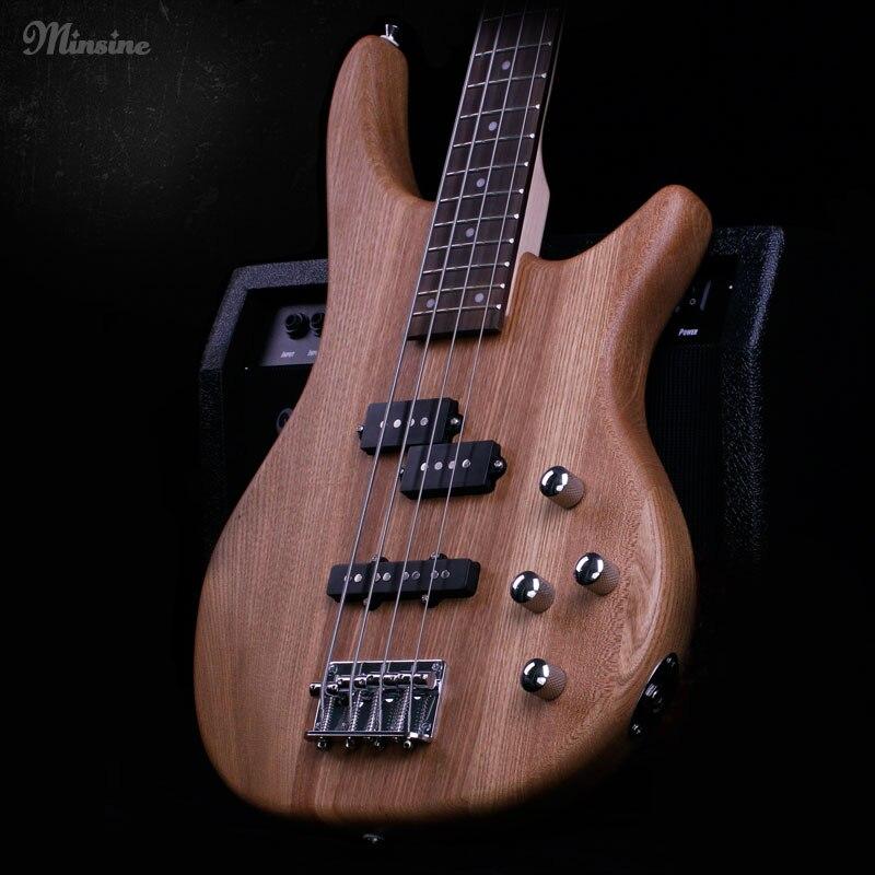 Variété chinoise guitare basse électrique 4 cordes palissandre orme passif pick-up fermé de haute qualité