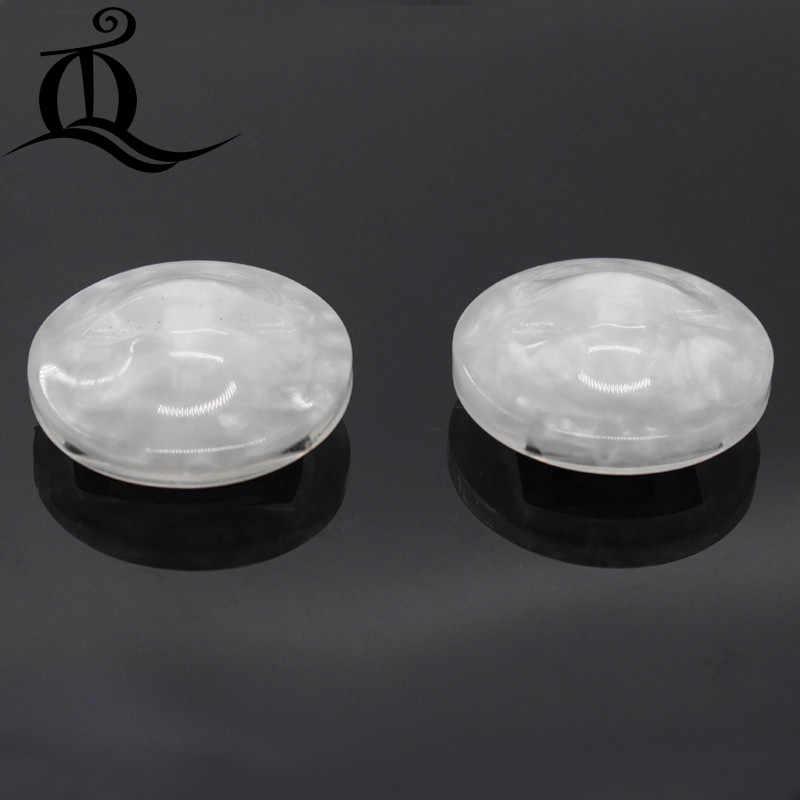 1 adet 37mm beyaz tilki yüzey Elmas coat. Taklidi Kürk düğmeleri. Büyük ile elmas toka, akrilik metal düğmeler 442