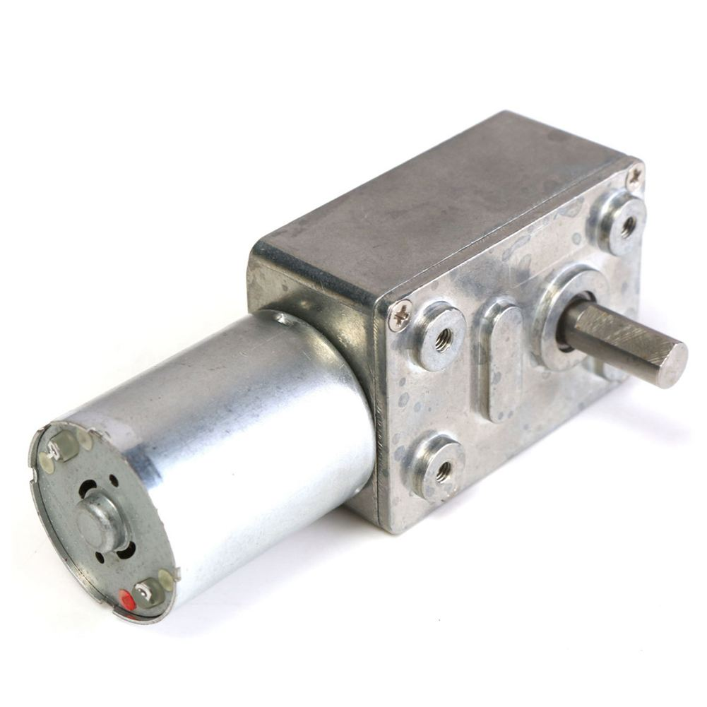 GW370 12V 6rpm Reversible High Worm Geared Motor Torque Turbo DC Motor 35A high torque turbine gear dc motor gw370 dc 12v 0 6rpm 2rpm 5rpm 8rpm 13rpm 24rpm 45rpm 65rpm 80rpm 120rpm right angle gearmotors