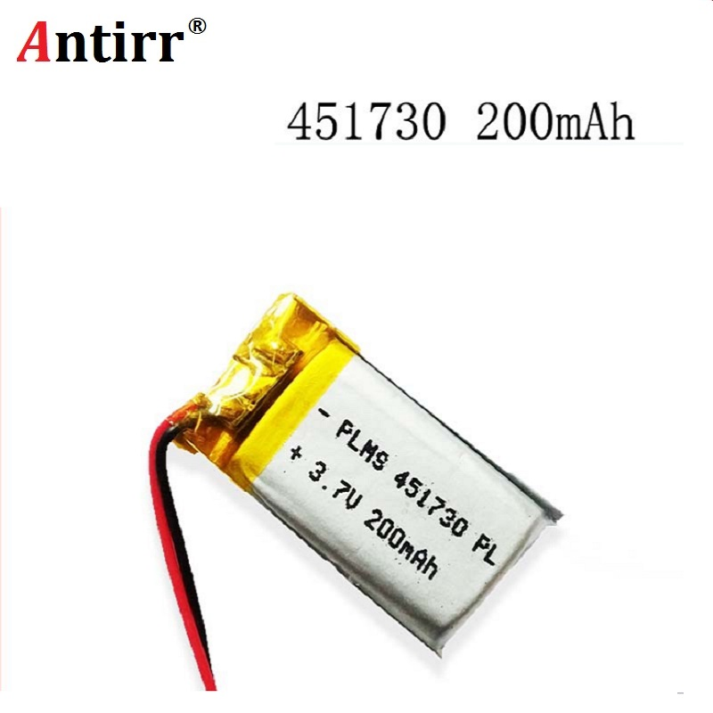 451730 3.7V 200mAh Polymer Li-ion Battery For bluetooth headset Bracelet Wrist Watch pen PSP PDA MP3/MP4/Game Player