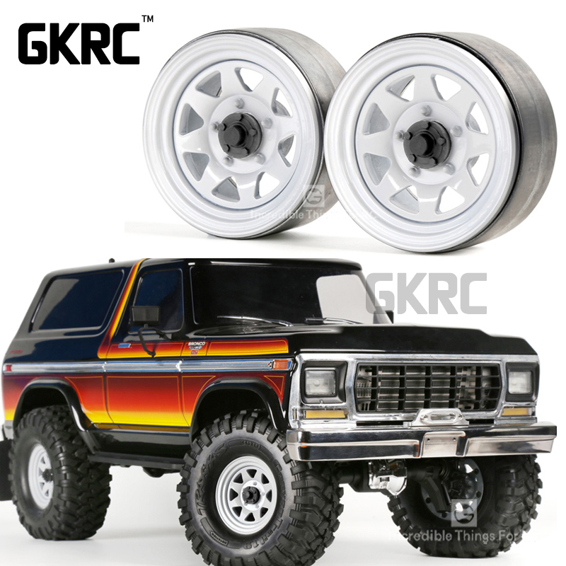 4pcs 1.9inch Metal Wheel Hub Rim Beadlock For 1/10 Rc Crawler Car Trx4 Bronco Rc4wd D90 D110 Axial Scx10 90046 Jimny Cfx Vs4
