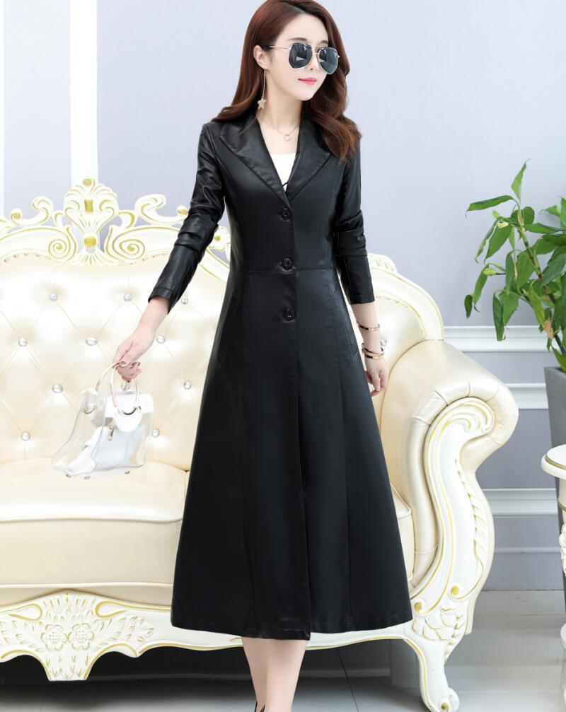 Vêtements Veste Noir Manteau 2019 Plus Cuir Taille Oaired Moto En Longue bourgogne Femme Mince Noir Femmes Nouvelles La Survêtement aZnqXvB