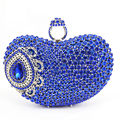 2016 Finger Ring Evening Bag Royal Blue Luxury Crystal Bridal Party Purse Diamond Wedding Bag Rhinestone Bag SC428