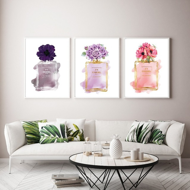 Modern Fashion Girlu0027s Living Room Prints Canvas Painting COCO Wall Art Wall  Pictures Posters And Prints Nordic Home Decor