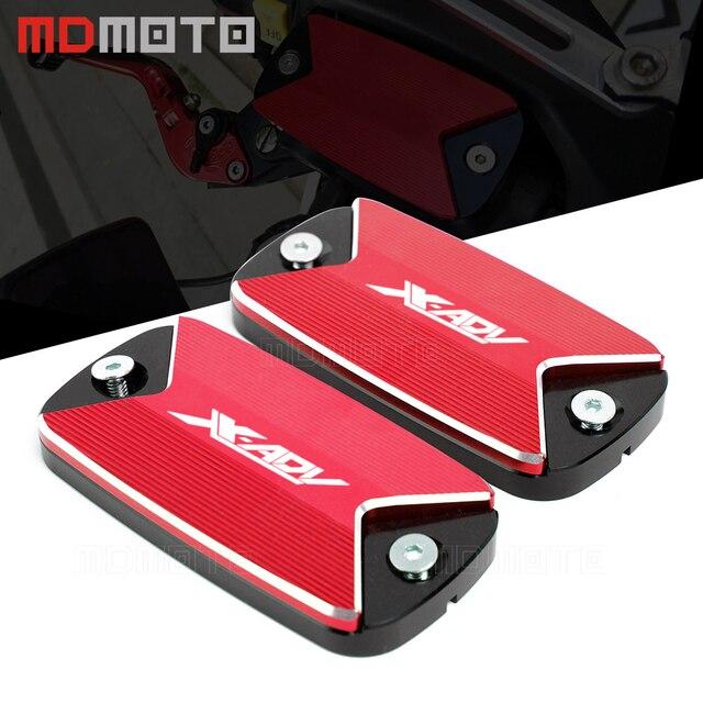 0a2c214800a28 € 16.92 52% de réduction|Livraison gratuite en aluminium CNC accessoires de  moto bouchon de réservoir de liquide de frein avant pour Honda X ADV ...