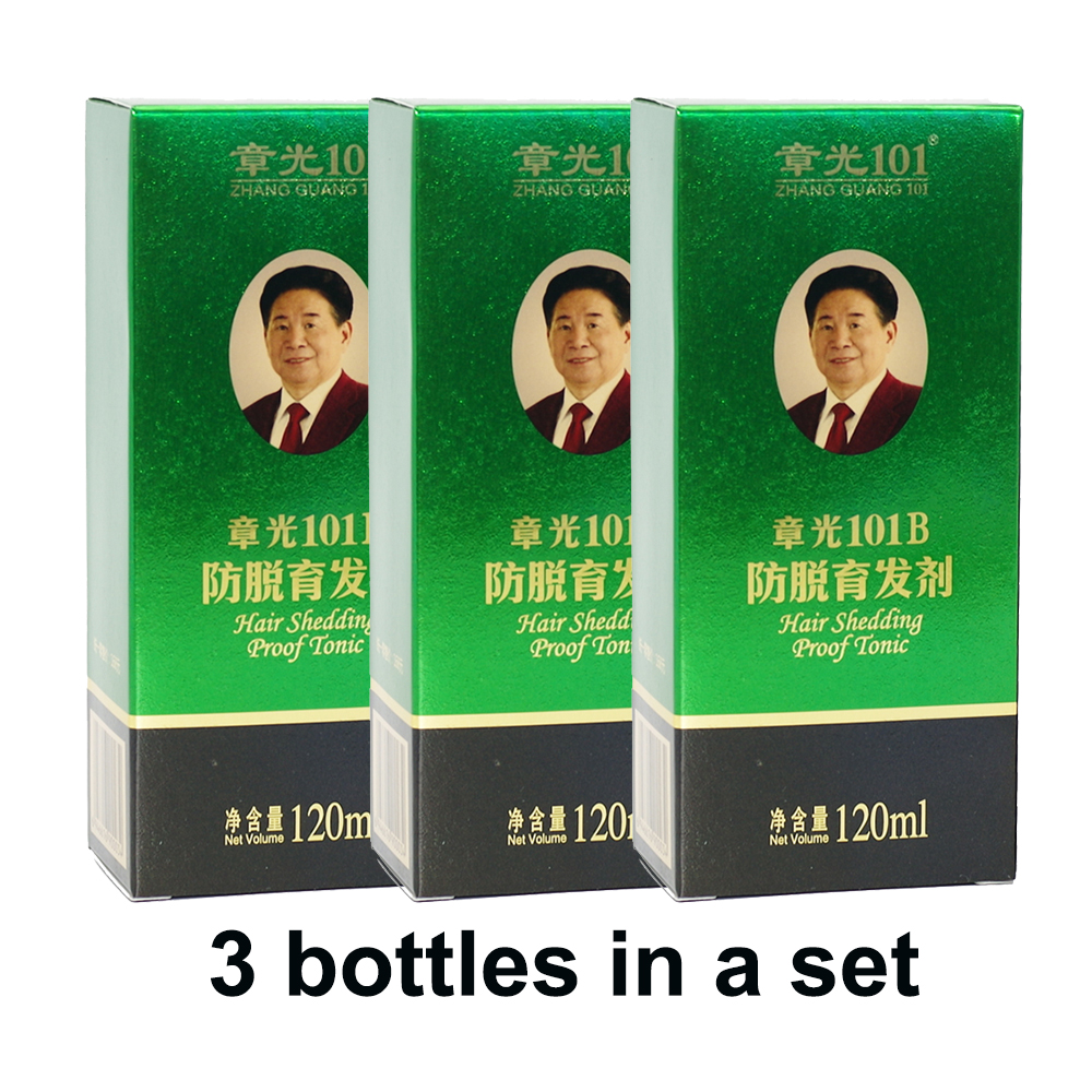 ZHANGGUANG <font><b>101</b></font> B Formula <font><b>Hair</b></font> Tonic 3x120 ml 3 bottles <font><b>hair</b></font> loss Chinese medicine therapy <font><b>Hair</b></font> Treatment Essence 100% original image