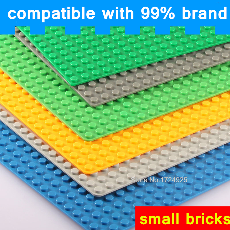 Single Sale 38.5cm 48*48 dots Base Small bricks Plate DIY Baseplate Building Blocks Accessories Sets Children Toys big bricks building blocks base plate 51 25 5cm 32 16 dots baseplate diy bricks toy compatible with major brand blocks