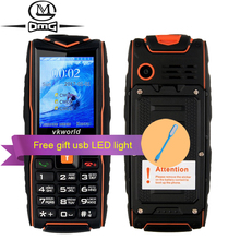 Russian keyboard IP68 waterproof shockproof Mobile phone Vkworld new Stone V3 3000mAh battery FM flashlight outdoor cell phones(China)