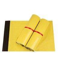 DHL העצמי הוכחת אור צהוב שקיות מפורשות מיילר שליח תיק מעטפת דיוור שקית מיילר פולי שקית אריזת איטום דבק