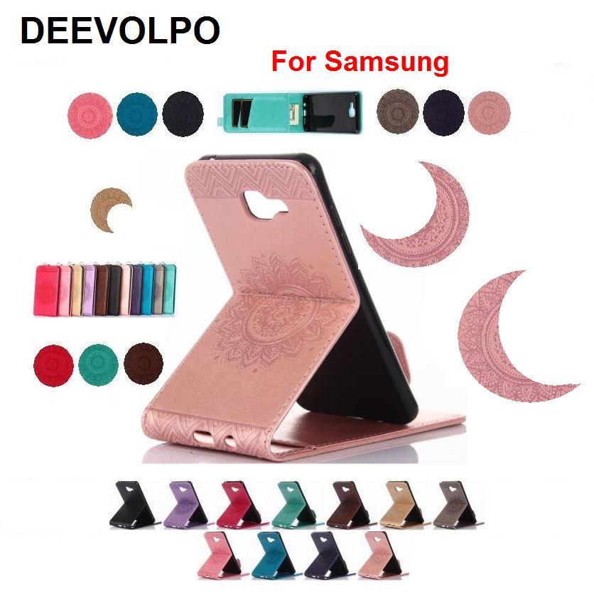 DEEVOLPO Vertical Flip En Cuir Folio Cas Pour Samsung S8 Plus S7 S6 Bord SJ530 J330 J3 Premier On5 On7 2016 DP04G