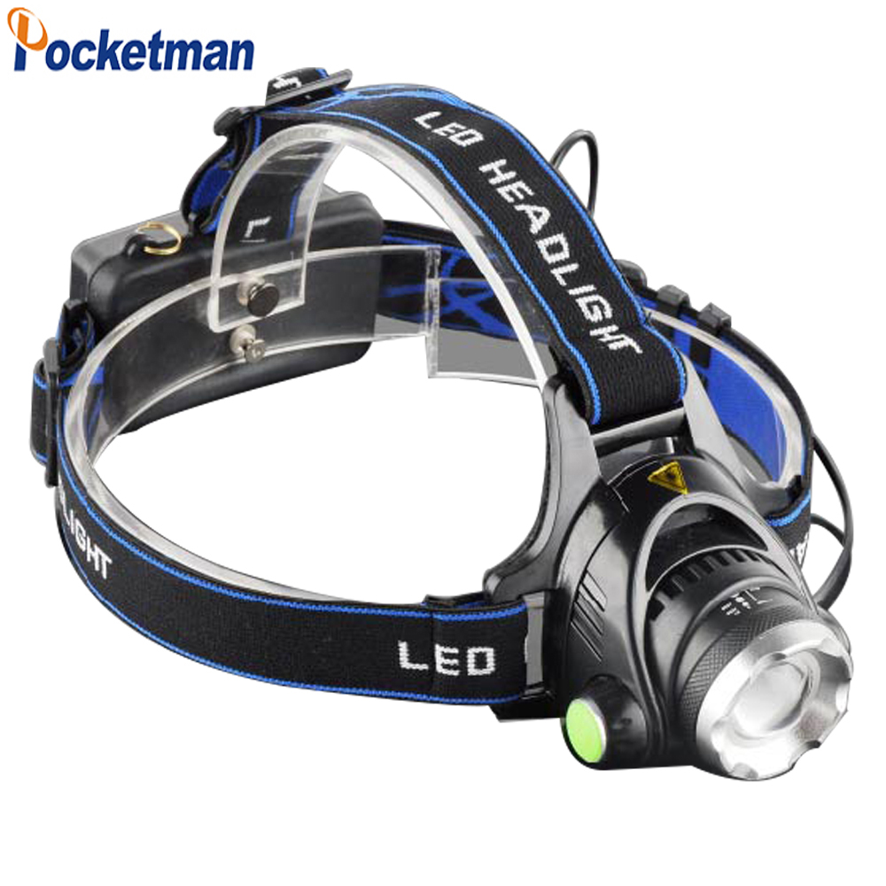CREE T6 led headlamp zoom 18650 Head lights head lamp 8000lm XML T6 zoomable lampe torch
