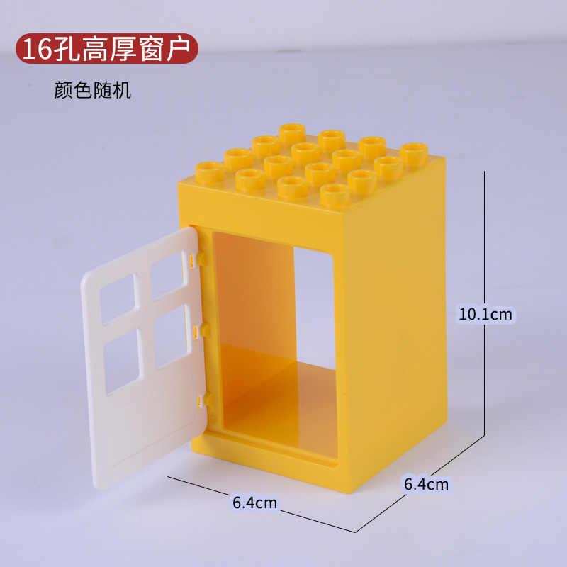 Legoing الانكليزي اكسسوارات المنزل الألعاب والهوايات متوافق Diy كتل بناء كتل 16 حفرة ذات سمك نافذة Legoing الانكليزي