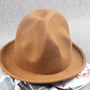 2017 Nueva Montaña del búfalo del sombrero el 100% lana sentía feliz  Celebrity Sombrero estilo Fedora sombreros para hombres mujeres envío  gratis en ... cdf60d46d6a