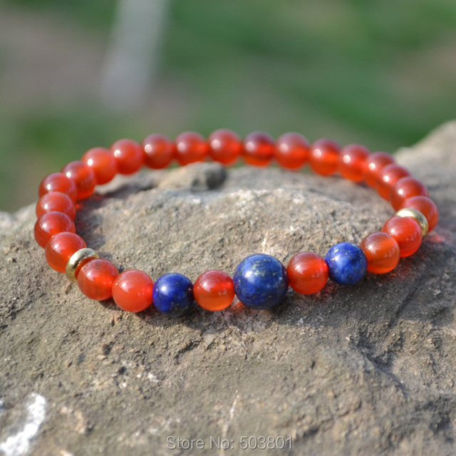 6mm red agate bracelets,fashion Jewellery,Lapis lazuli beads charms ,free shipping