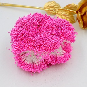 Image 3 - 900 teile/los Zufall Mixed Doppel Köpfe DIY Künstliche Mini Perle Blume Staubblatt stempel 1mm Floral Staubblatt Für Hochzeit Dekoration DIY