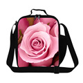 personalized flower lunch bags for teen girls floral rose lunch container with straps for children school insulated cooler bags