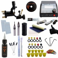 Complete Tattoo Kit Complete Rotary Tattoo Machine Gun Equipment Set Starter Kit 1 Guns Supply Body