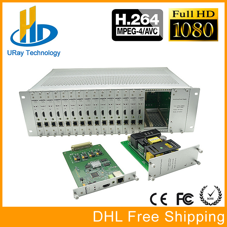 DHL Free Shipping 3U Chassis 16 Channels HDMI Video Audio Encoder H.264 IPTV With HTTP /RTSP /RTMP /UDP /Hls Streaming Protocol http