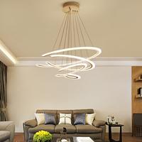 Designer Modern Led Chandelier Kitchen Living Dinging Room Light Fixtures LED Hanging Chandelier Lighting Luminaires Led