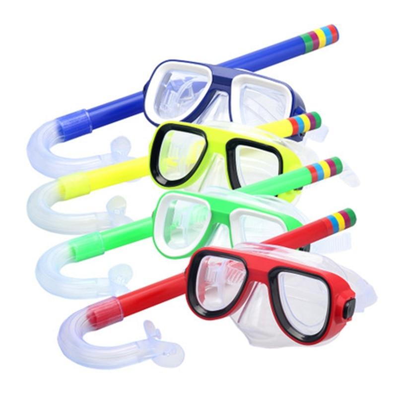 NEW Professional Kids Underwater Anti Fog Scuba Diving Mask Silicone Snorkel Glasses Set Swimming Fishing Pool Equipment