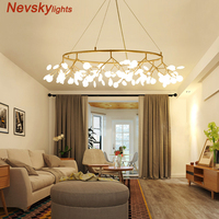 lightning bug Arrival Spring Modern Led Pendant Minimalism For Dining Kitchen Bar AC85 265V iron Rose Gold Chandelier Fixtures