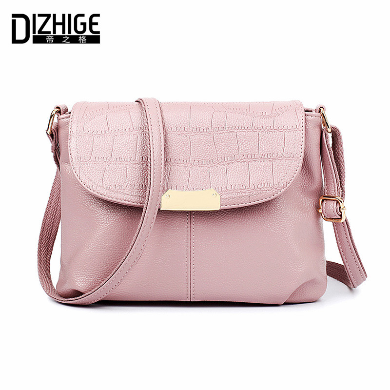 DIZHIGE Brand New PU Leather Bags Women Flap Crossbody Bags Ladies High Quality Women Messenger Bags