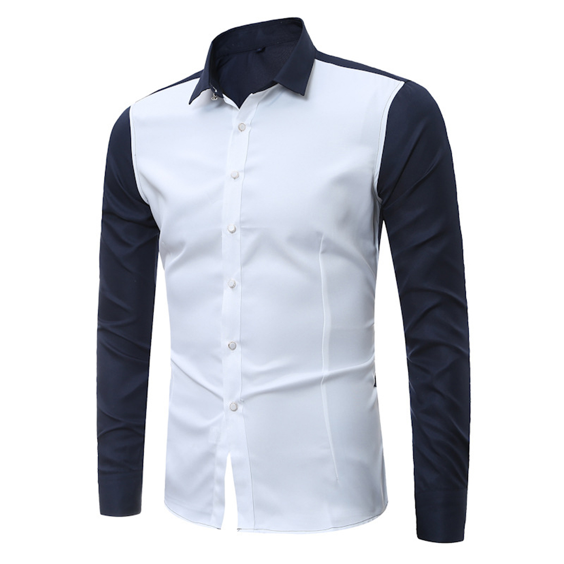 Popular Men White Shirt Long Sleeve Button Down-Buy Cheap Men ...