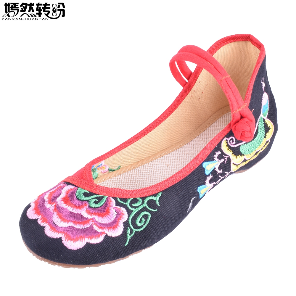 Women Flats Old BeiJing Floral Peacock Embroidery Chinese National Canvas Soft Dance Ballet Shoes For Woman Zapatos De Mujer women flats old beijing floral peacock embroidery chinese national canvas soft dance ballet shoes for woman zapatos de mujer