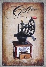 1 pc Coffee Cappuccino Blender Italian Doppio espresso shop Tin Plate Sign wall plaques Decoration Dropshipping Poster metal