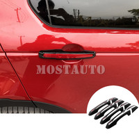 ABS Car Door Handle Cover Trim For Land Rover Discovery Sport 2015 2018 8pcs Black/Silver