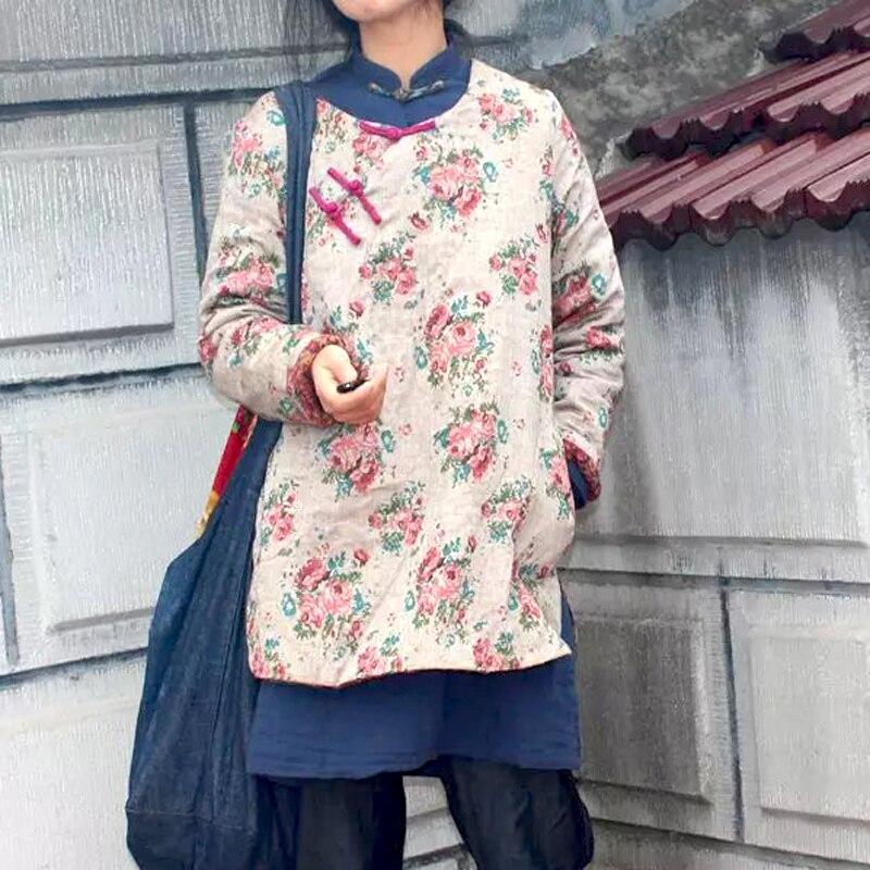 Original chinese women jacket folk style coat retro winter surplice pure cotton yarn thin short coat fugoo style jacket
