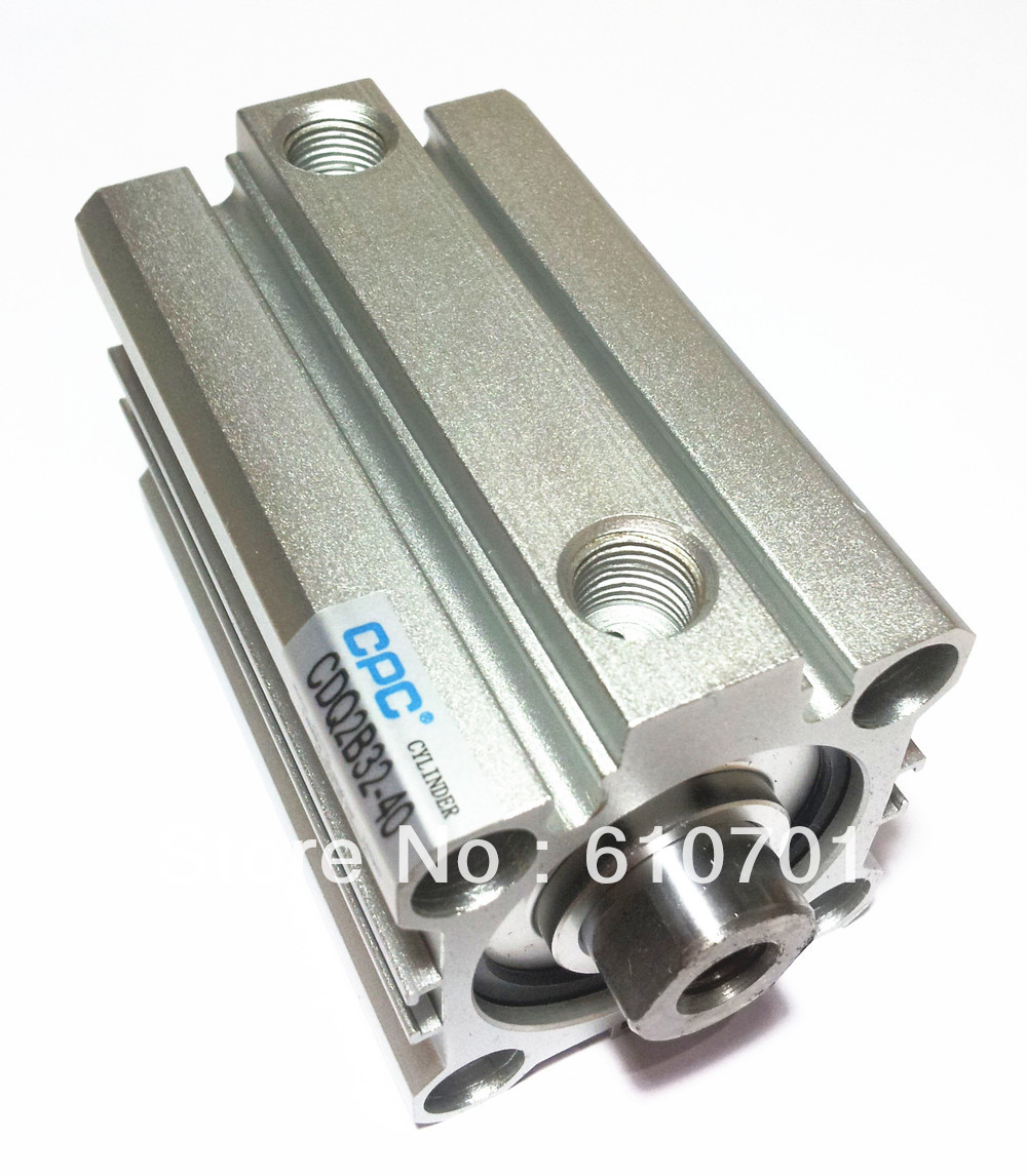 SMC Type CDQ2B32-40D Miniature Compact Cylinder Built-in Magnet Double Acting Single Rod Bore Size-32mm Stroke-40mm Replace SMC high quality double acting pneumatic gripper mhy2 25d smc type 180 degree angular style air cylinder aluminium clamps