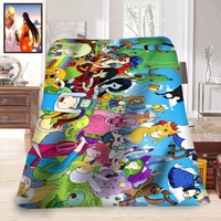 Fashion Blanket Adventure Time Finn And Jake Printed For 58 X 80 Inch Soft Fleece Blanket