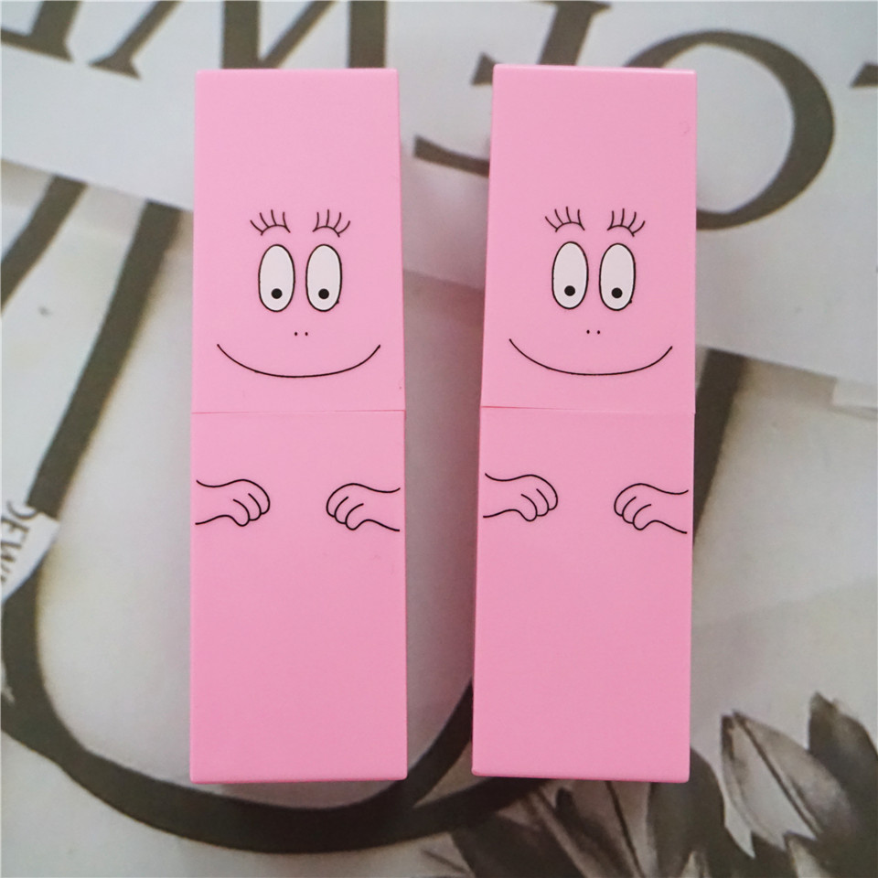 10/20/50PCS 12.1mm Pink Square Lipstick Tube Smile Face Cute Lip Balm Container DIY Makeup Refillable Package Bottle Pipe Shell каталог pink lipstick