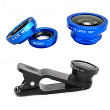 Three-in-1 Fish-eye Micro and Huge Angle Lens Common Three In 1 Fish Eye Digicam Fisheye Lenses 3in1 Clip for iPhone 7 6 Cellular Telephone