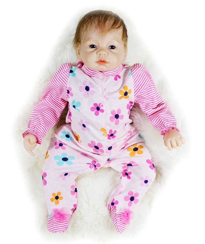 50cm Silicone Reborn Baby Doll Toy Newborn Babies Doll For Kids Birthday Gifts Christmas Present Play House Toy Girls Brinquedos