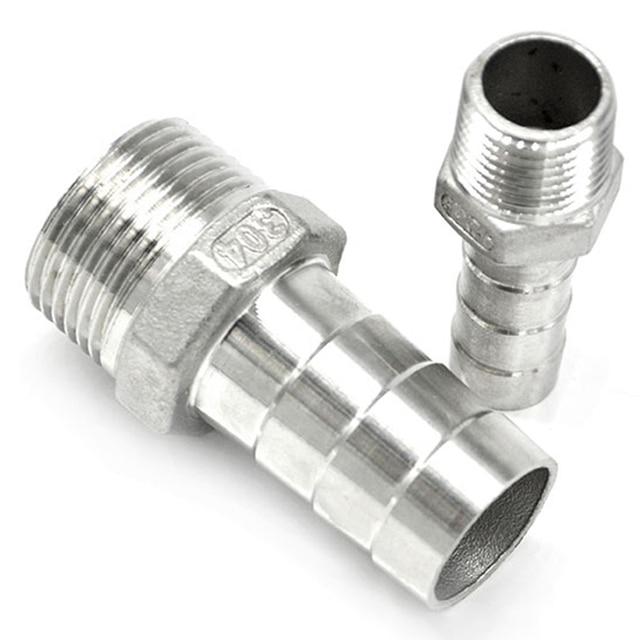2PCS 3/8  304 Stainless Steel Pipe Fitting Hose Hoops Lathedog Embrace Hoop Nipple  sc 1 st  AliExpress.com & 2PCS 3/8