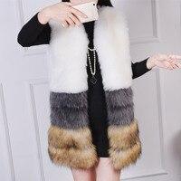 Faux Fur Vest Winter Women Faux Fox Fur Vest Furry Slim Colored Fur Vest Woman Fake Fur Vest Plus Size High Quality