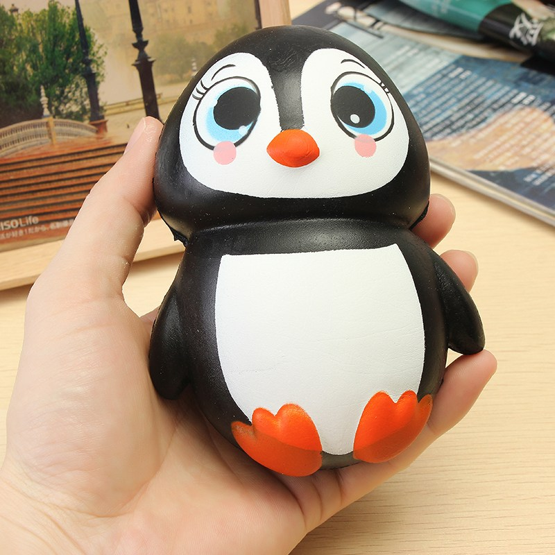 S quishy Penguin Jumbo 13cm Slow Rising Soft Kawaii Cute Collection Gift Decor Toy ...
