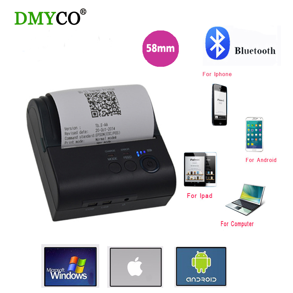 где купить  2017 USB port 58mm Thermal Printing thermal Receipt pirnter POS printer low noise sticker label printer thermal for android IOS  дешево