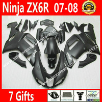 Free Custom Fairings For 2007 2008 Bodywork Kawasaki ZX6R Ninja 636 Fairing Kits 07 08 New