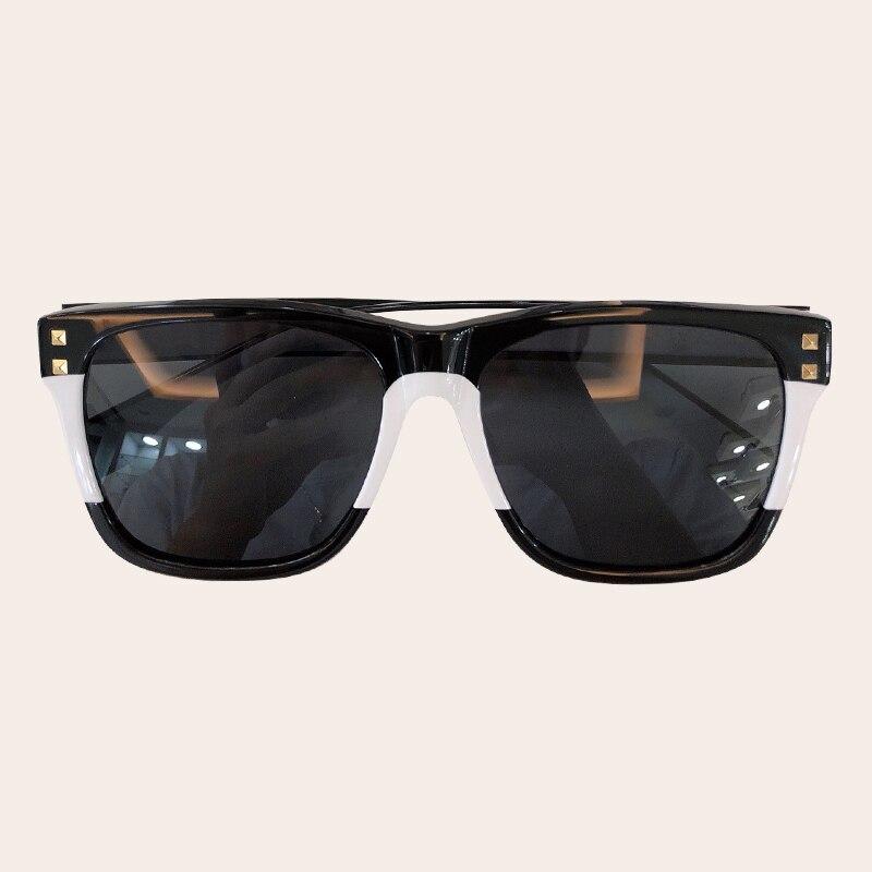 Visnice 2019 большие солнцезащитные очки мужские деревянные зернистые поляризованные линзы ацетат очки черные негабаритные защитные очки ручно... - 4