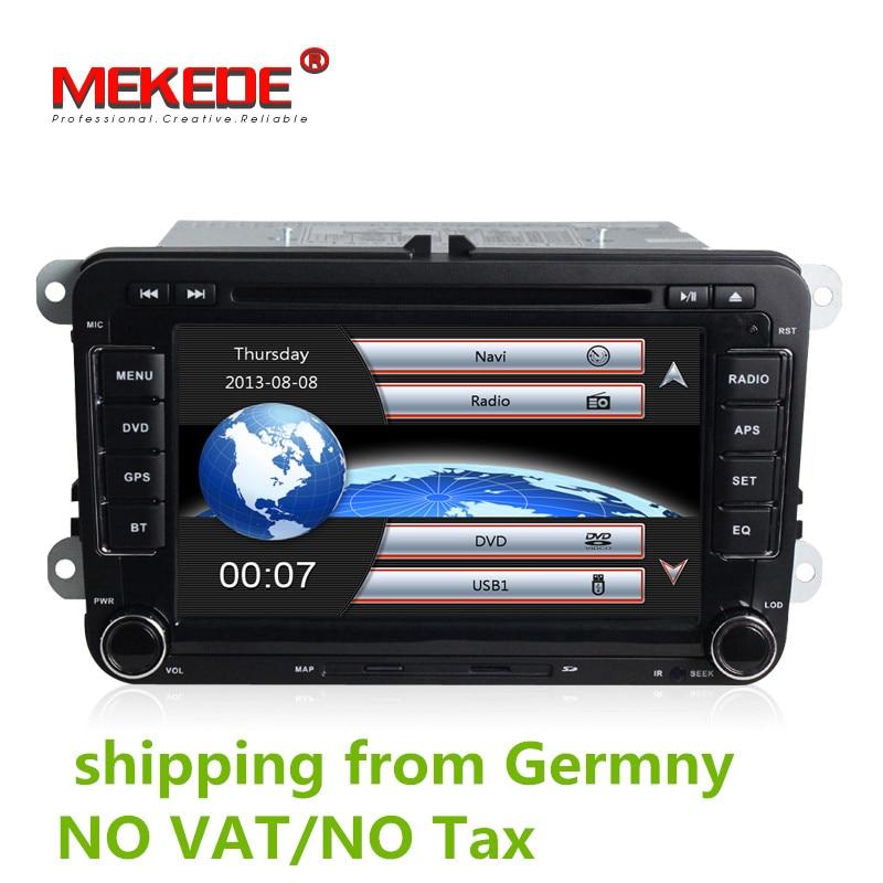 Prix usine Lecteur DVD de Voiture Pour VW/Volkswagen/SAGITAR/JATTA/POLO/BORA/GOLF V navigation Avec 3g Hôte GPS BT Radio Cartes Gratuites