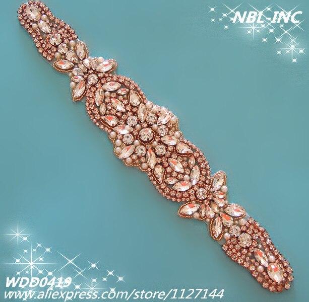Aliexpress.com : Buy (30 pieces) Wholesale bridal sash beaded rose ...