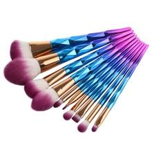 поп-пейл 10шт. Бриллиантовая форма для макияжа Кисти для набора порошка для губ Кисть для косметики для губ