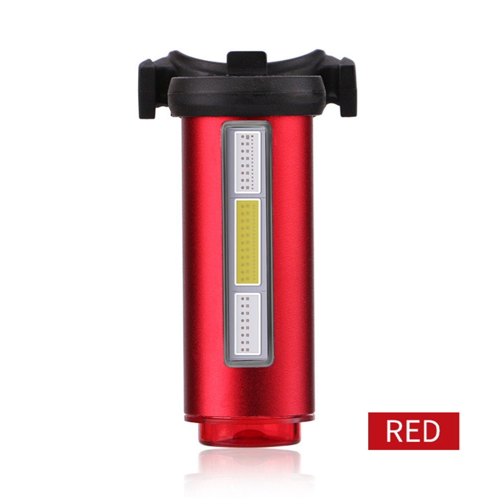 WHEEL UP Bike Light USB Rechargeable Seat post Tail-light Bicycle Light Rear Lights 7 Modes COB Lamp Beads LEDS Outdoor Cycling