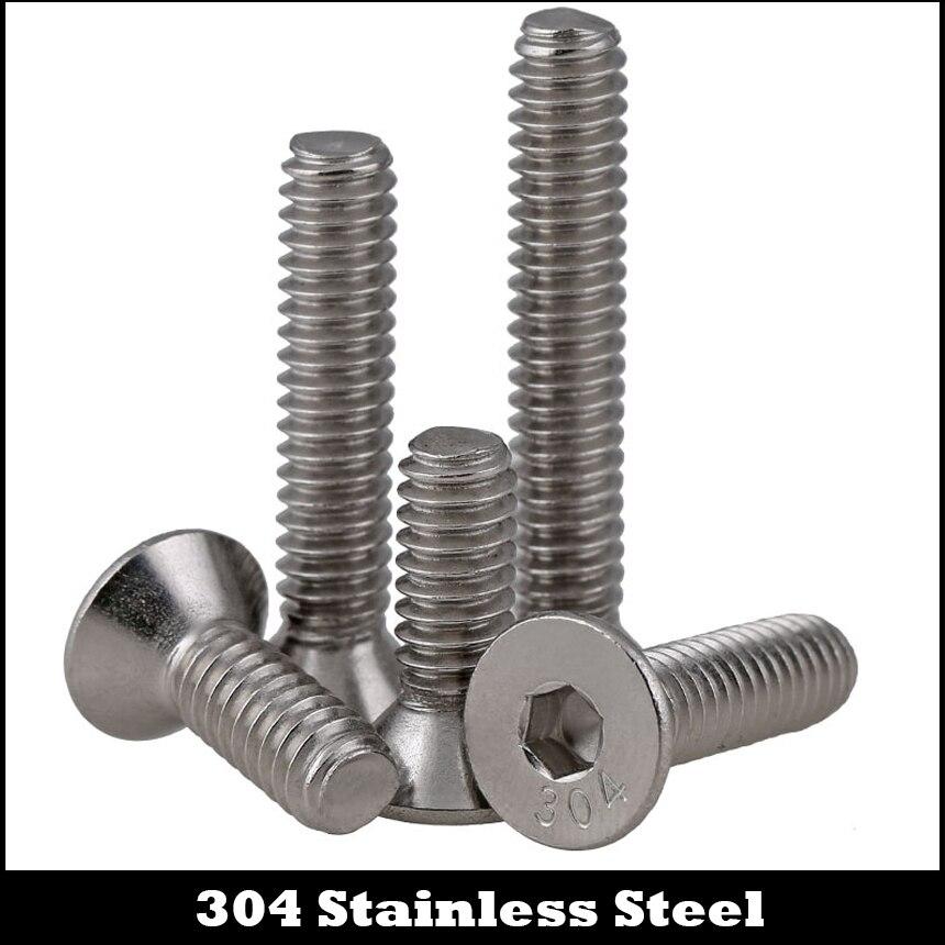 6# #6-32*1/4 #6-32*5/16 1/4 5/16 304 Stainless Steel US UNC Coarse Thread Bolt Hexagon Socket Flat Countersunk CSK Head Screw 1pcs 1 2 12 bsw thread 1 1 4 1 1 4 inch length 304 stainless steel bsw thread bolt unified hex hexagon screw